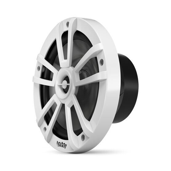 """Reference 822MLW - White Gloss - Reference 822MLW—8"""" (200mm) two-way marine audio multi-element speaker - white - Left"""