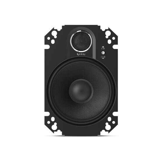 """Kappa 462.11cfp - Black - 4"""" x 6"""", two-way, coaxial, custom-fit plate speaker system - Front"""