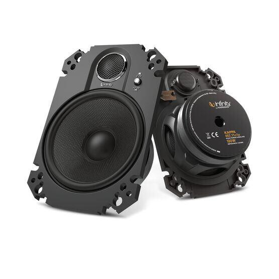 "Kappa 462.11cfp - Black - 4"" x 6"", two-way, coaxial, custom-fit plate speaker system - Hero"