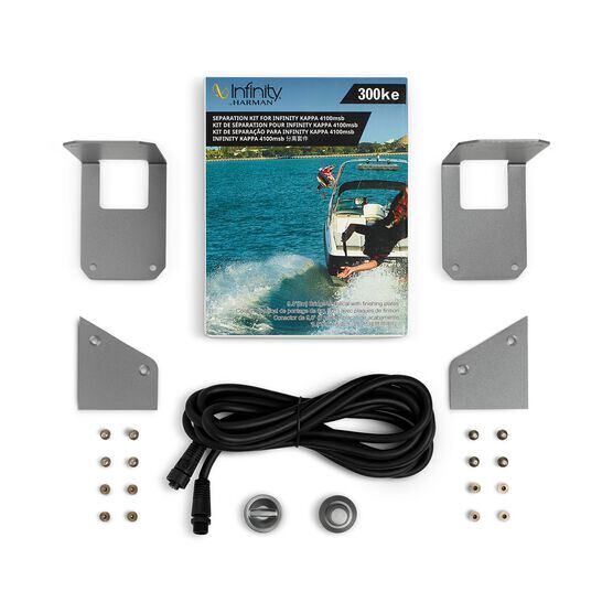 Infinity 300KE Separation Kit - Silver - 9.8'(3mm)Bridge Umbilical with finishing plates - Detailshot 1