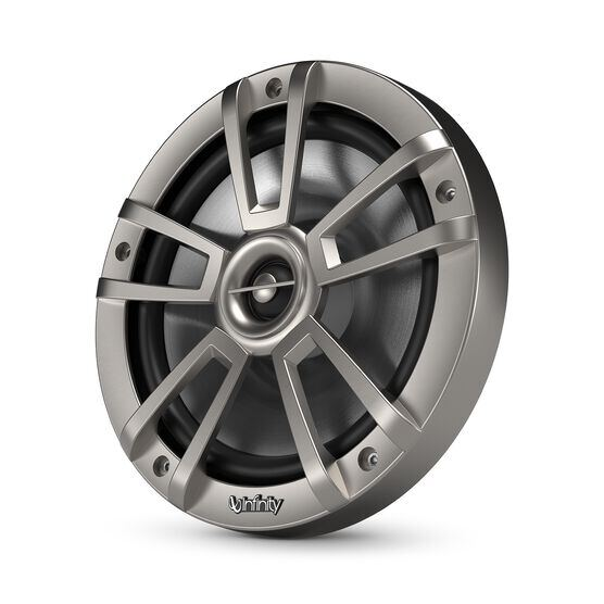 """Reference 822MLT - Graphite - Reference 822MLT—8"""" (200mm) two-way marine audio multi-element speaker – titanium - Hero"""