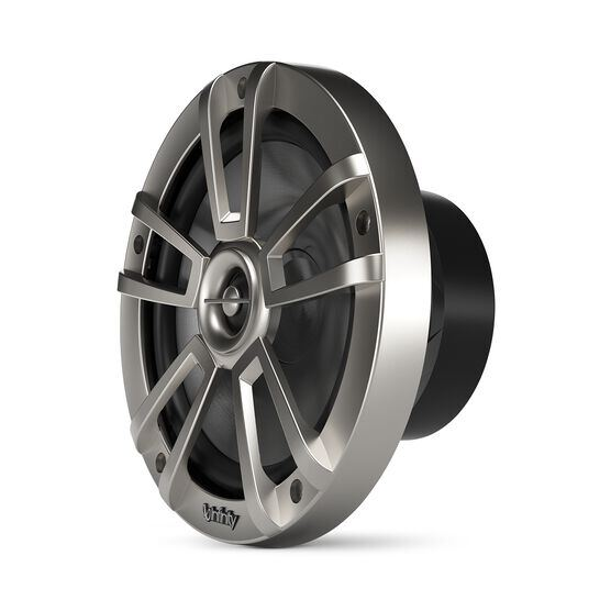 """Reference 822MLT - Graphite - Reference 822MLT—8"""" (200mm) two-way marine audio multi-element speaker – titanium - Left"""